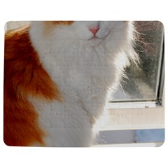 Norwegian Forest Cat Sitting 4 Jigsaw Puzzle Photo Stand (Rectangular)