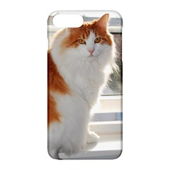 Norwegian Forest Cat Sitting 4 Apple iPhone 7 Plus Hardshell Case