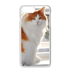 Norwegian Forest Cat Sitting 4 Apple iPhone 7 Plus White Seamless Case