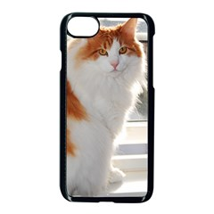 Norwegian Forest Cat Sitting 4 Apple iPhone 7 Seamless Case (Black)