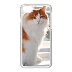 Norwegian Forest Cat Sitting 4 Apple iPhone 7 Seamless Case (White)