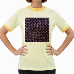 WOV2 BK-PR MARBLE (R) Women s Fitted Ringer T-Shirts