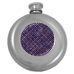 WOV2 BK-PR MARBLE (R) Round Hip Flask (5 oz)