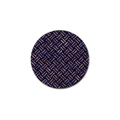 Woven2 Black Marble & Purple Marble Golf Ball Marker (10 Pack)