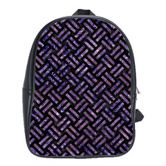 WOV2 BK-PR MARBLE School Bags(Large)