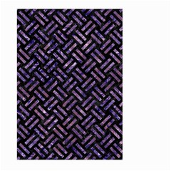 Woven2 Black Marble & Purple Marble Large Garden Flag (two Sides)