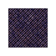 Woven2 Black Marble & Purple Marble Acrylic Tangram Puzzle (4  X 4 )