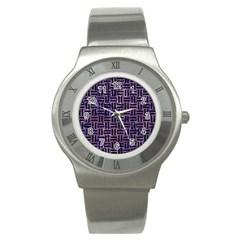 WOV1 BK-PR MARBLE (R) Stainless Steel Watch