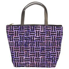 WOV1 BK-PR MARBLE (R) Bucket Bags
