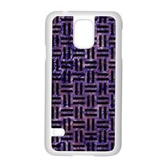 WOV1 BK-PR MARBLE (R) Samsung Galaxy S5 Case (White)