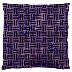 WOV1 BK-PR MARBLE (R) Standard Flano Cushion Case (One Side)