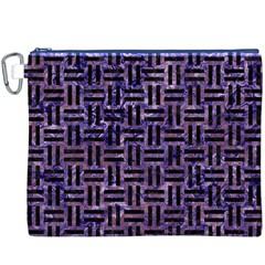 WOV1 BK-PR MARBLE (R) Canvas Cosmetic Bag (XXXL)