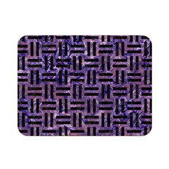 Woven1 Black Marble & Purple Marble (r) Double Sided Flano Blanket (mini)
