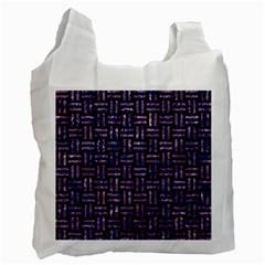 WOV1 BK-PR MARBLE Recycle Bag (One Side)