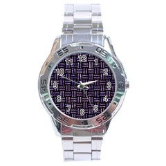Woven1 Black Marble & Purple Marble Stainless Steel Analogue Watch