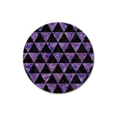 TRI3 BK-PR MARBLE Magnet 3  (Round)