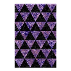 Triangle3 Black Marble & Purple Marble Shower Curtain 48  X 72  (small)