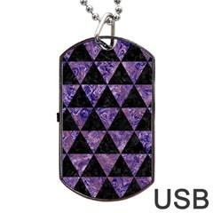 TRI3 BK-PR MARBLE Dog Tag USB Flash (One Side)