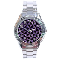 TRI1 BK-PR MARBLE Stainless Steel Analogue Watch