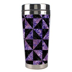 Triangle1 Black Marble & Purple Marble Stainless Steel Travel Tumbler