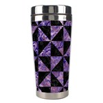 TRIANGLE1 BLACK MARBLE & PURPLE MARBLE Stainless Steel Travel Tumbler Center