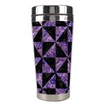 TRIANGLE1 BLACK MARBLE & PURPLE MARBLE Stainless Steel Travel Tumbler Right