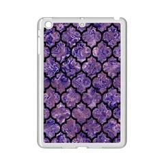 Tile1 Black Marble & Purple Marble (r) Apple Ipad Mini 2 Case (white)