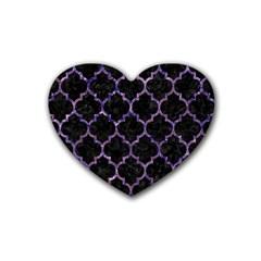 TIL1 BK-PR MARBLE Heart Coaster (4 pack)