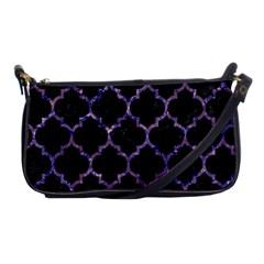 Tile1 Black Marble & Purple Marble Shoulder Clutch Bag