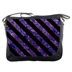 STR3 BK-PR MARBLE (R) Messenger Bags