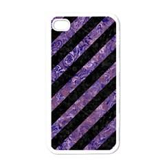 STR3 BK-PR MARBLE Apple iPhone 4 Case (White)