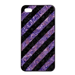 STR3 BK-PR MARBLE Apple iPhone 4/4s Seamless Case (Black)