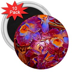 Floral Artstudio 1216 Plastic Flowers 3  Magnets (10 Pack)