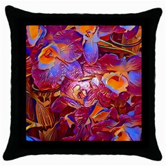 Floral Artstudio 1216 Plastic Flowers Throw Pillow Case (black)