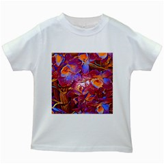 Floral Artstudio 1216 Plastic Flowers Kids White T Shirts