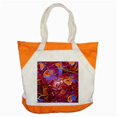 Floral Artstudio 1216 Plastic Flowers Accent Tote Bag