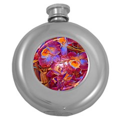 Floral Artstudio 1216 Plastic Flowers Round Hip Flask (5 Oz)