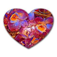 Floral Artstudio 1216 Plastic Flowers Heart Mousepads