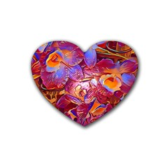 Floral Artstudio 1216 Plastic Flowers Heart Coaster (4 Pack)
