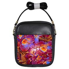 Floral Artstudio 1216 Plastic Flowers Girls Sling Bags