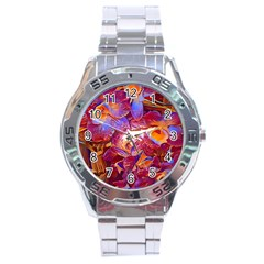 Floral Artstudio 1216 Plastic Flowers Stainless Steel Analogue Watch