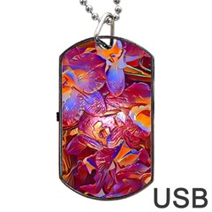 Floral Artstudio 1216 Plastic Flowers Dog Tag Usb Flash (two Sides)