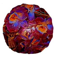 Floral Artstudio 1216 Plastic Flowers Large 18  Premium Round Cushions