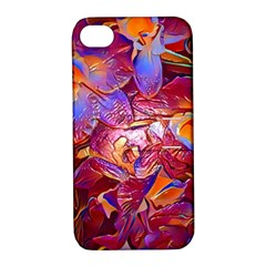 Floral Artstudio 1216 Plastic Flowers Apple Iphone 4/4s Hardshell Case With Stand