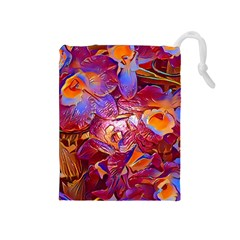 Floral Artstudio 1216 Plastic Flowers Drawstring Pouches (medium)