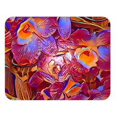Floral Artstudio 1216 Plastic Flowers Double Sided Flano Blanket (large)