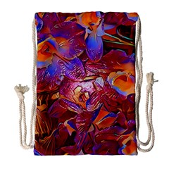 Floral Artstudio 1216 Plastic Flowers Drawstring Bag (large)