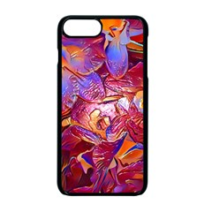 Floral Artstudio 1216 Plastic Flowers Apple Iphone 7 Plus Seamless Case (black)