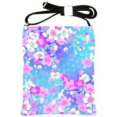 Colorful Pastel Flowers  Shoulder Sling Bags