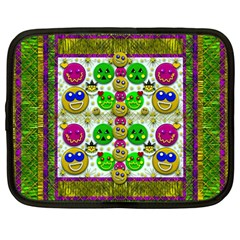 Smile And The Whole World Smiles With You Netbook Case (large)